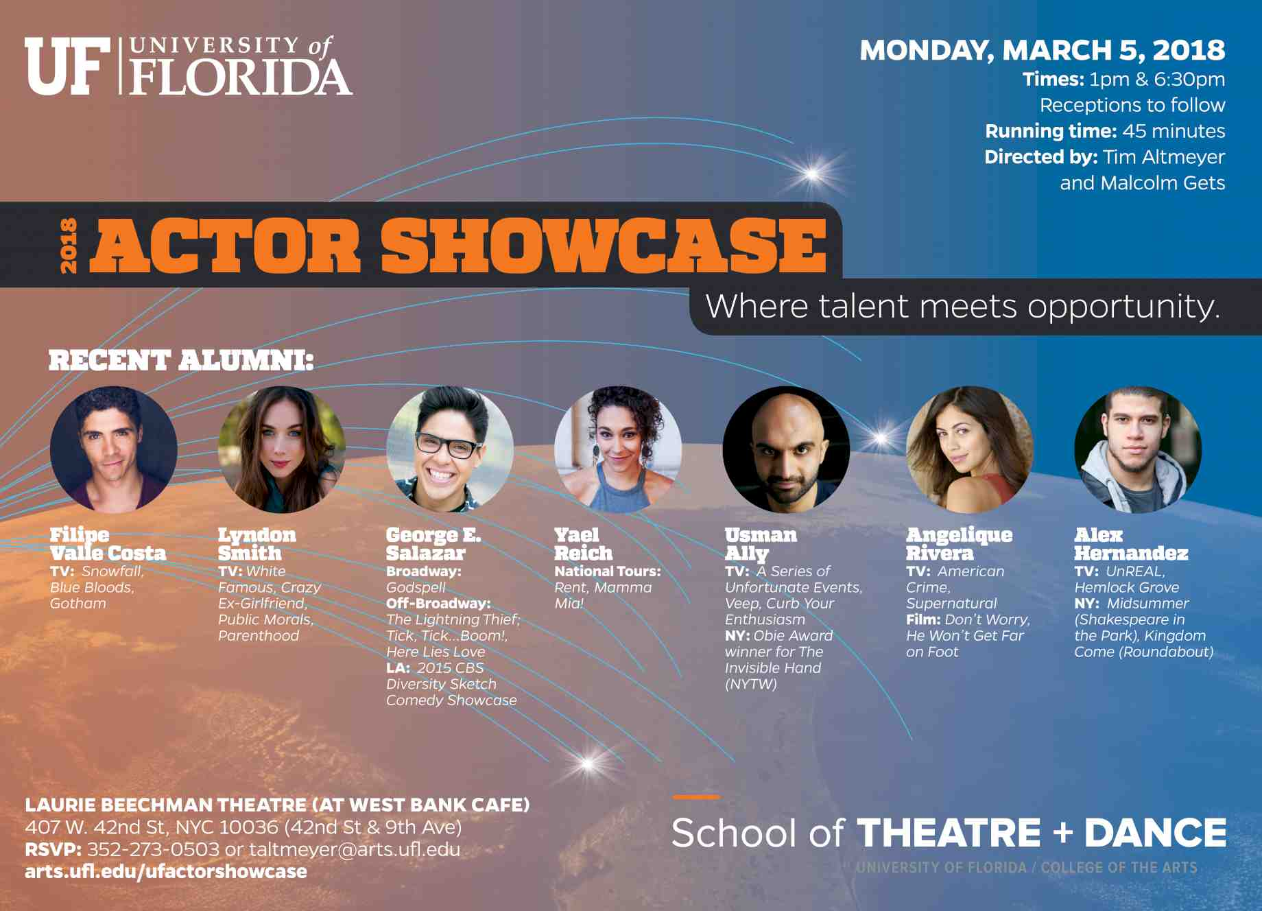 2018 Uf Actor Showcase Events College Of The Arts