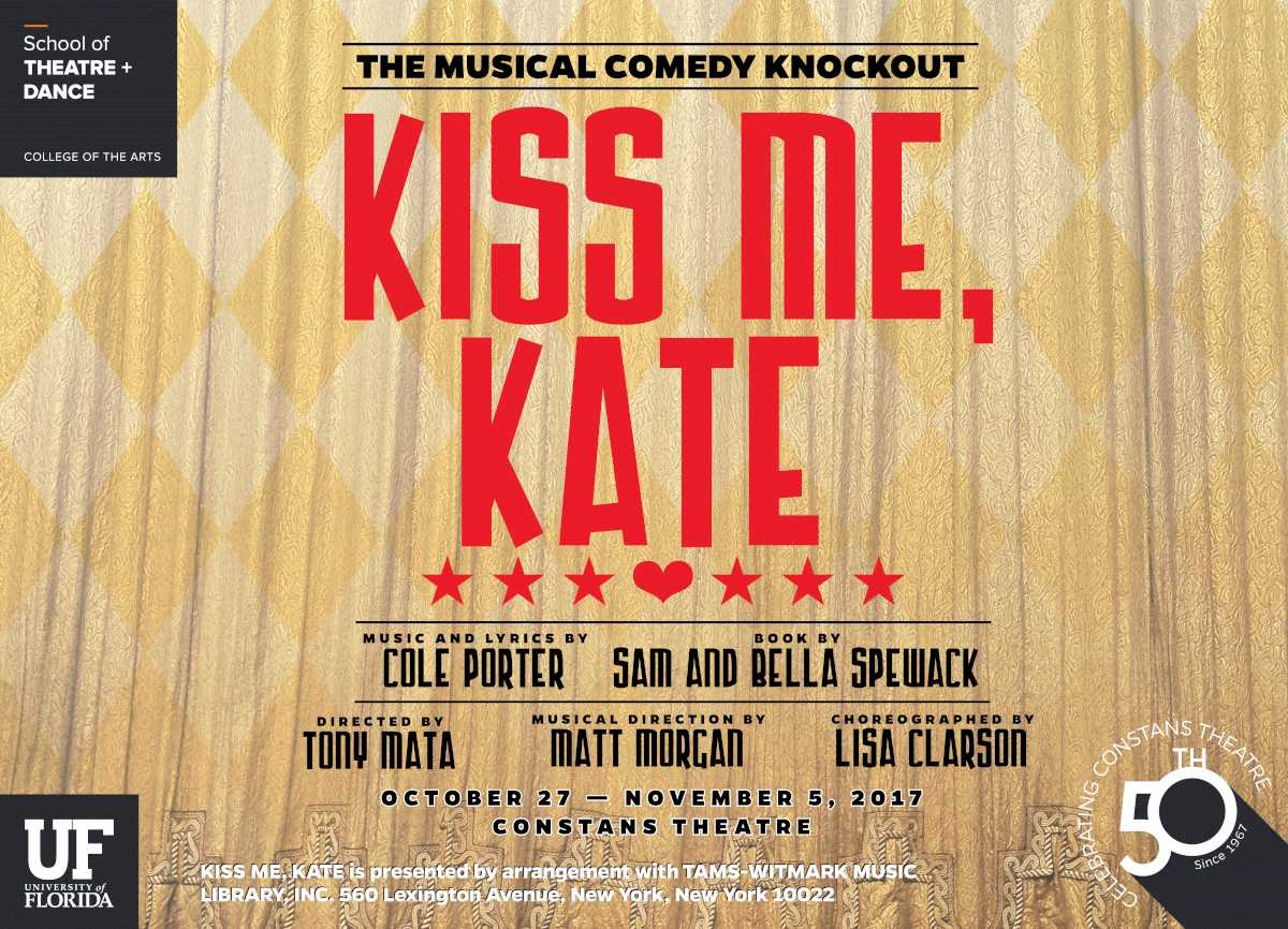 an analysis of the musical kiss me kate by cole porter Kiss me kate music and lyrics by cole porter: book by bella and samuel spewack  new century theatre broadway 30 december, 1948 (1077 perfs) london coliseum 8 march, 1951 (501 perfs).