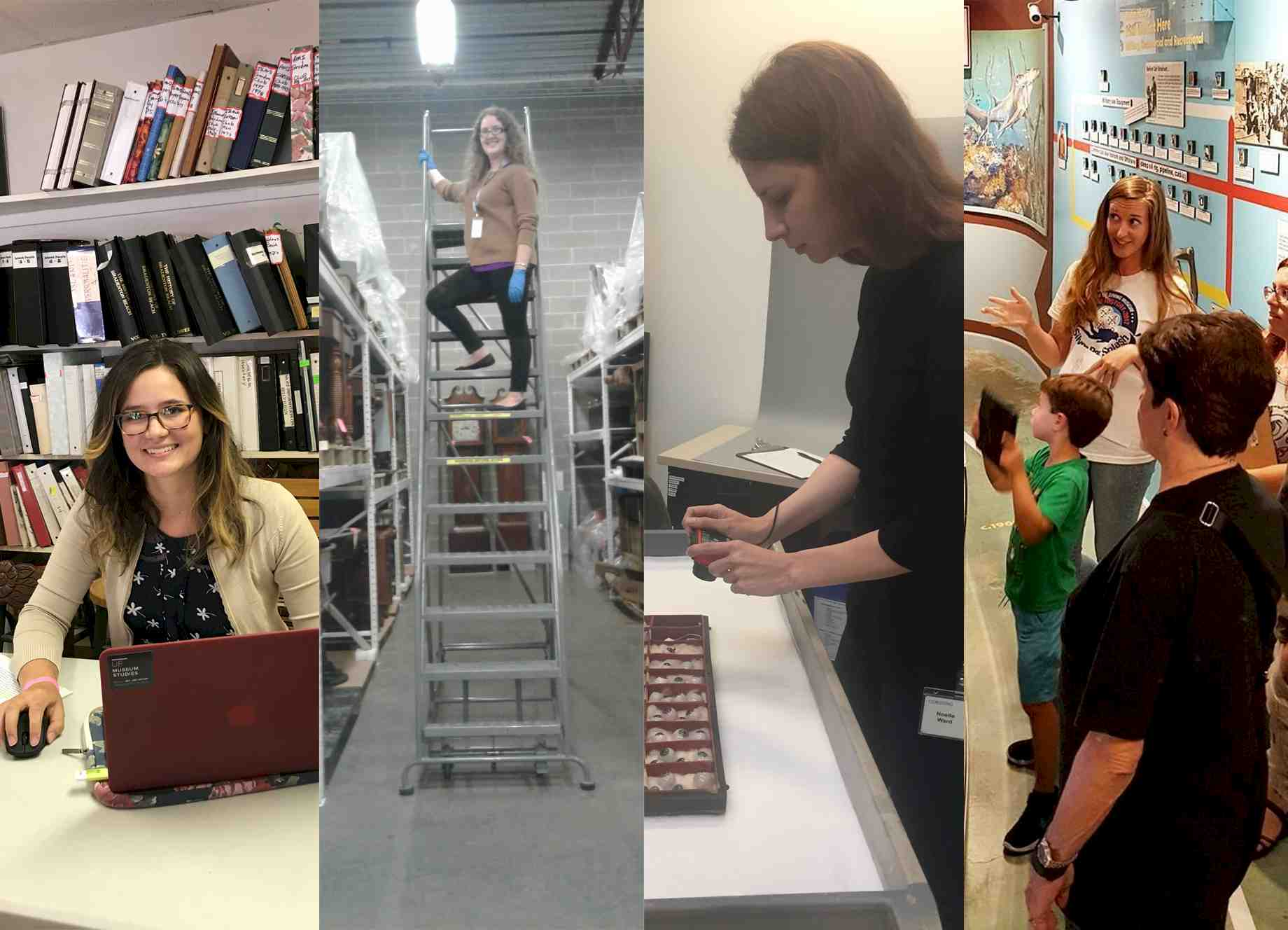Uf museum studies students continue their hard work in the summer kaitlyn hof mahoney at kentucky historical society noelle ward at corning museum of glass lynea wilson at history of diving museum xflitez Gallery