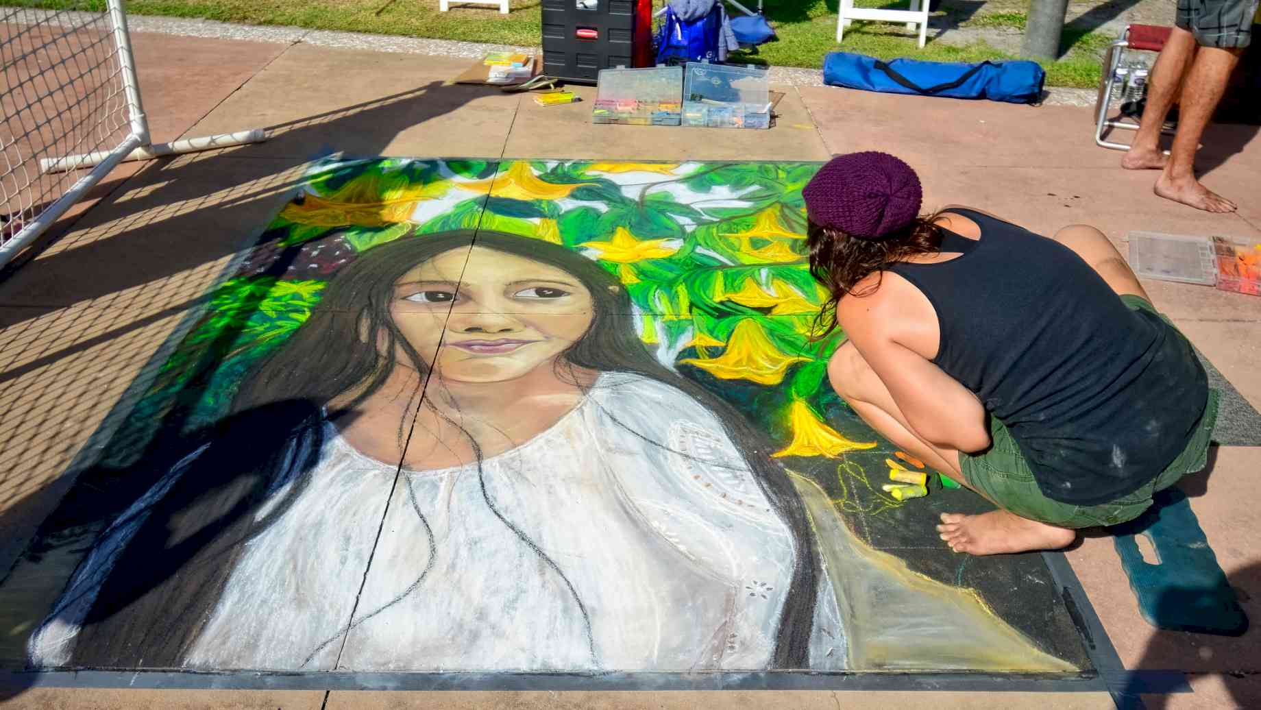 6th Annual Chalk Art Festival at Beach Walk along Clearwater Beach by Walter - Licensed by CC 2.0
