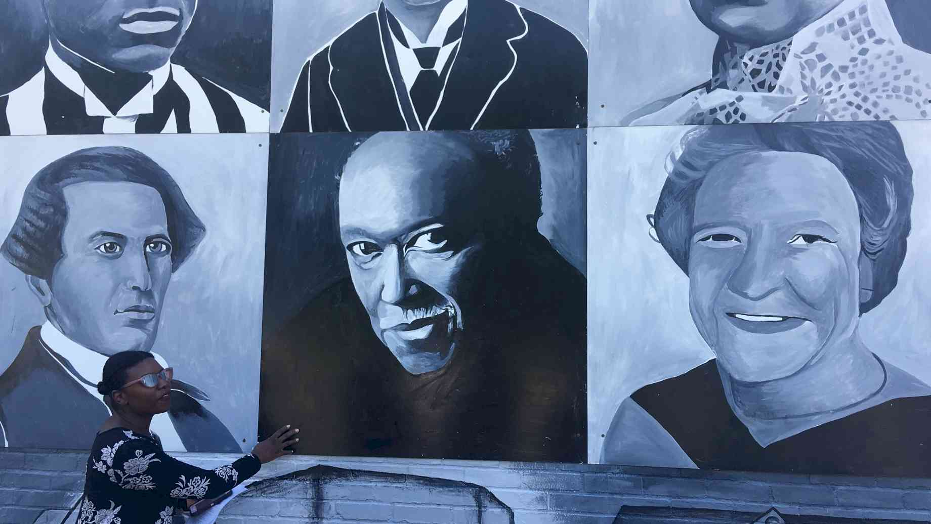 Mural of historic figures in Lexington, Kentucky
