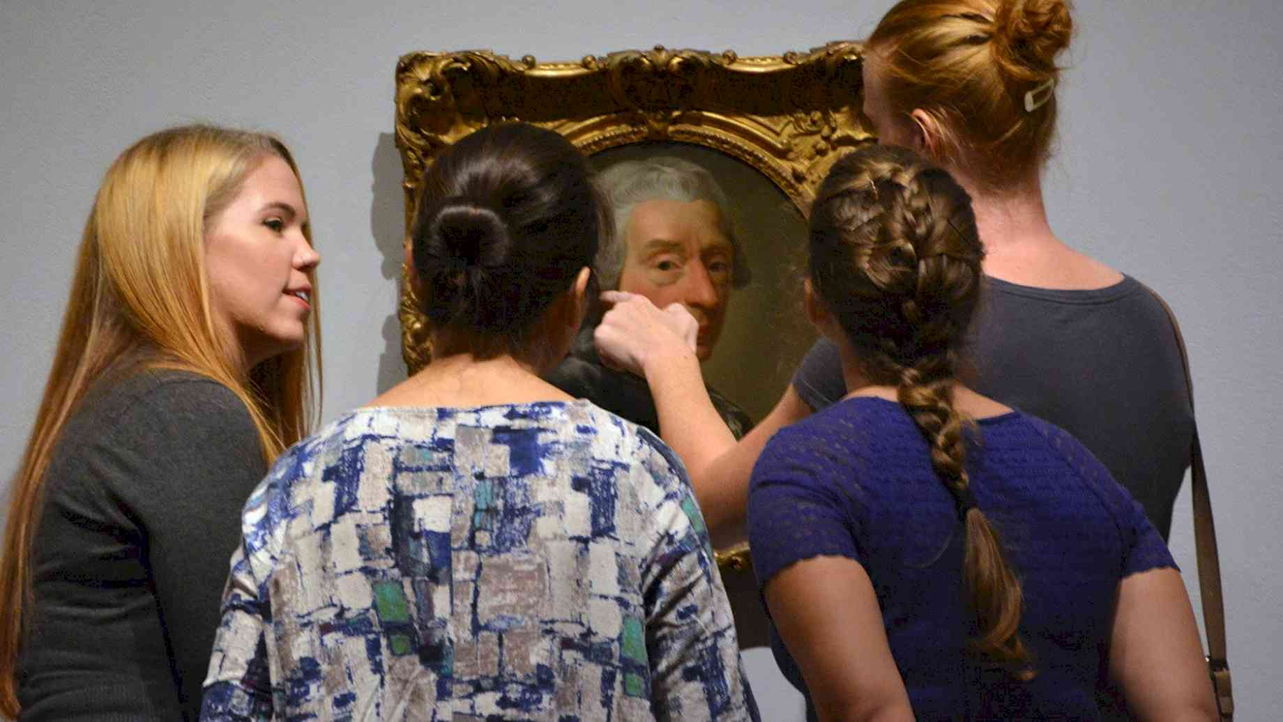 "Art History Grads attend the opening of ""Becoming a Woman"" at the Harn"