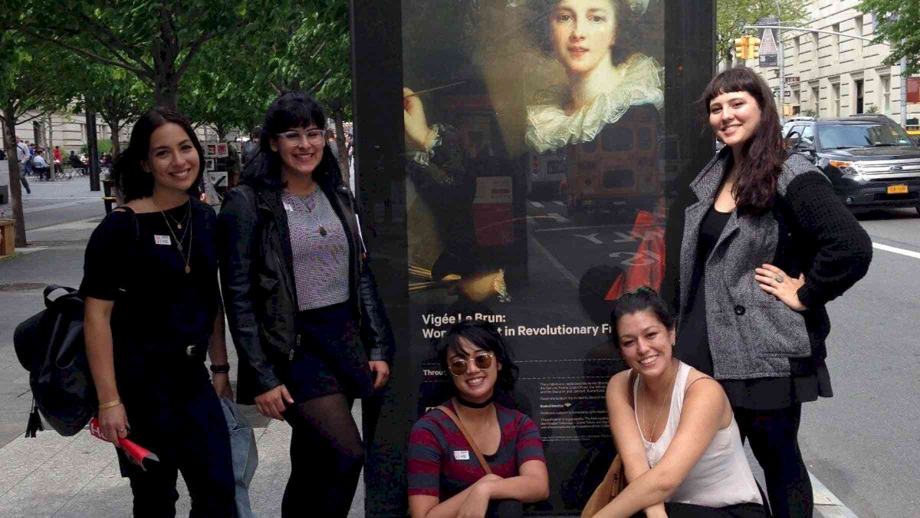 Students on the annual Art History New York trip, 2016