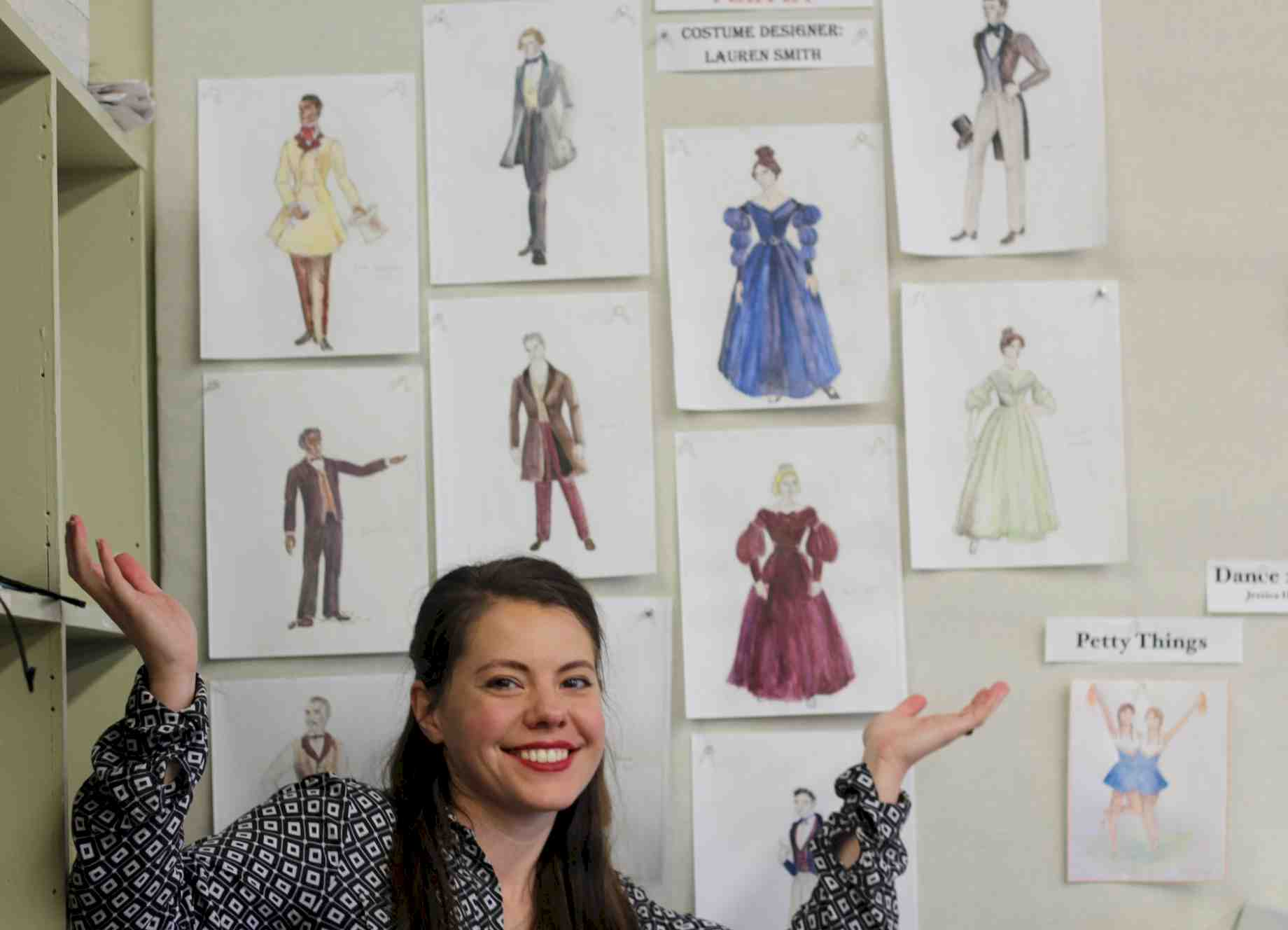 Behind The Design Of Red Velvet S 19th Century Costumes News College Of The Arts University Of Florida