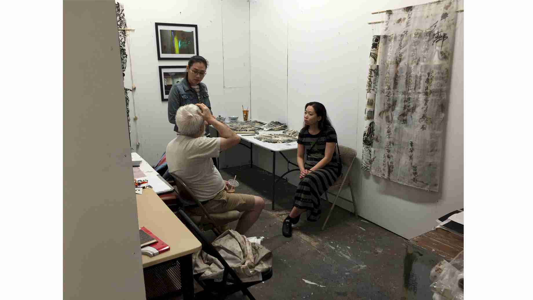 UF Creative Photo grad has a studio visit with artist Dan Graham.