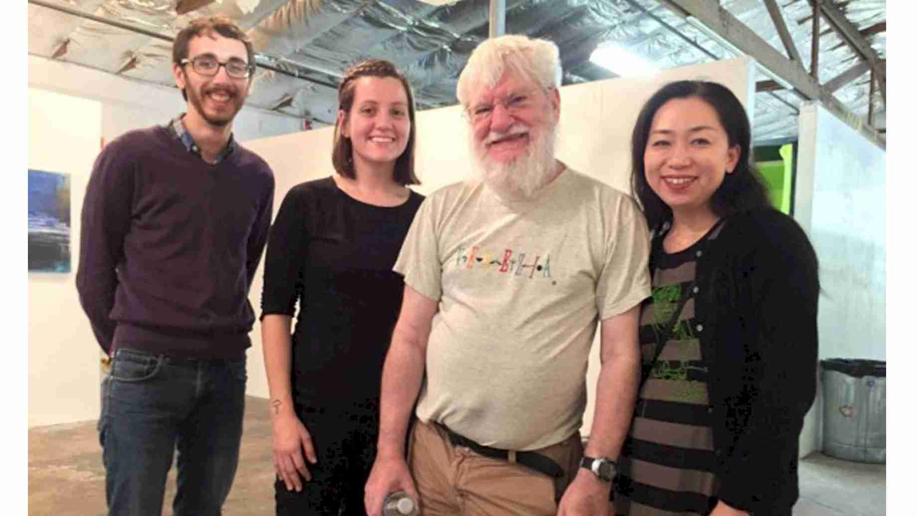 UF graduate students with the artist Dan Graham (2014).