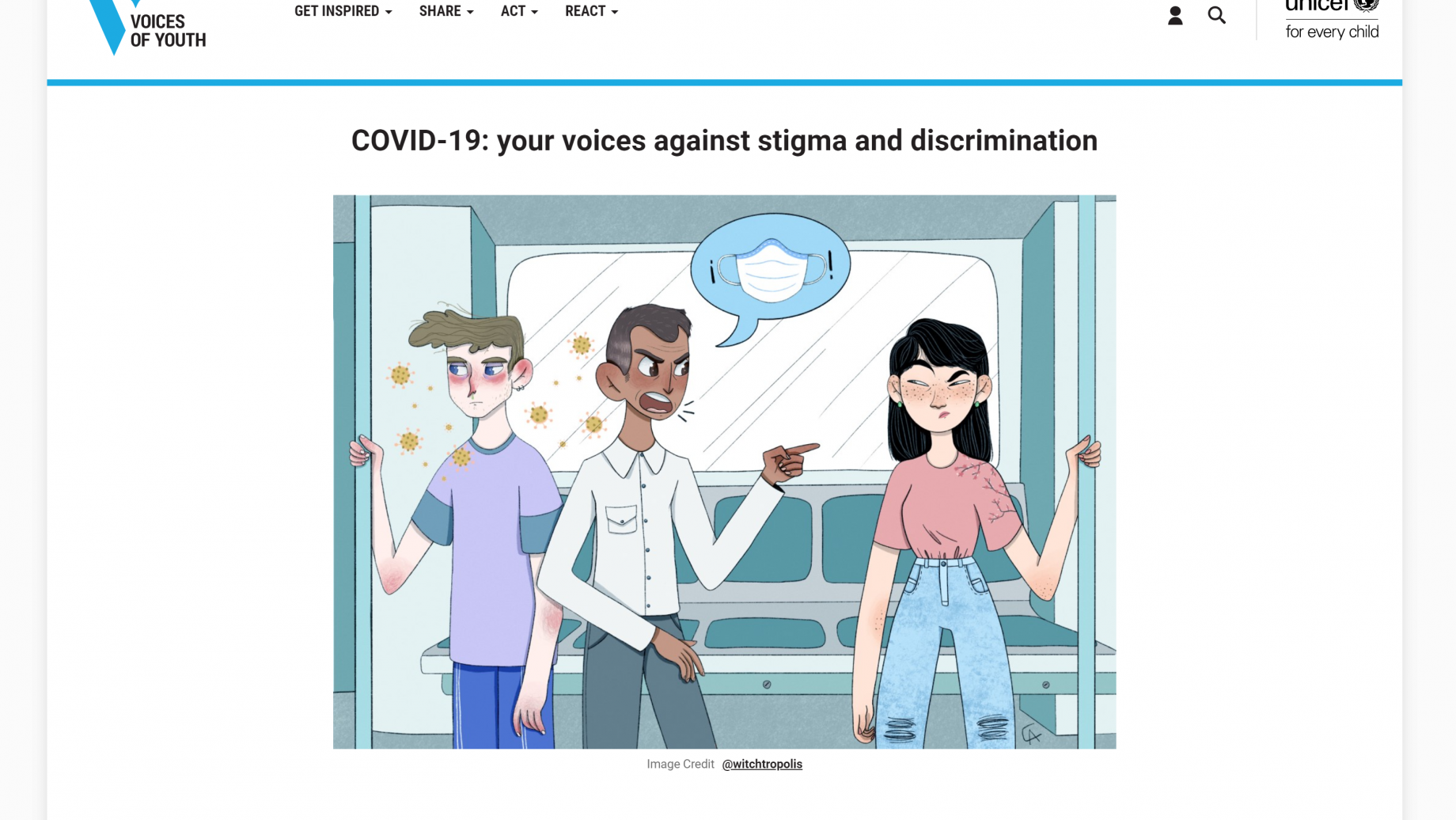 COVID-19: Your Voices Against Stigma and Discrimination. UNICEF