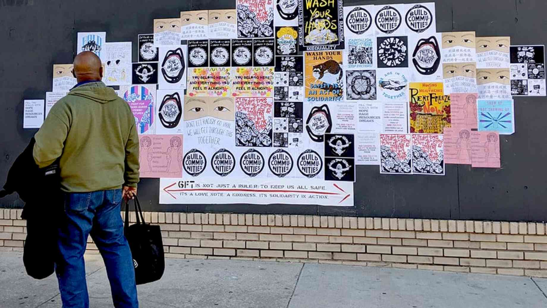 Artist Mark Strandquist and collaborators in Philadelphia are calling on fellow artists to submit their work in the context of the COVID19 crisis for distribution throughout their city. Image source: https://coverthewallswithhope.weebly.com/