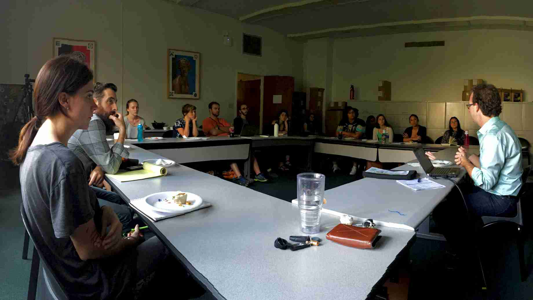 Harn Eminent Scholar Chair in Art History (HESCAH) Lunch Seminar with Dr John Bowles, Fall 2015 (Photo: Prof. Craig Smith)