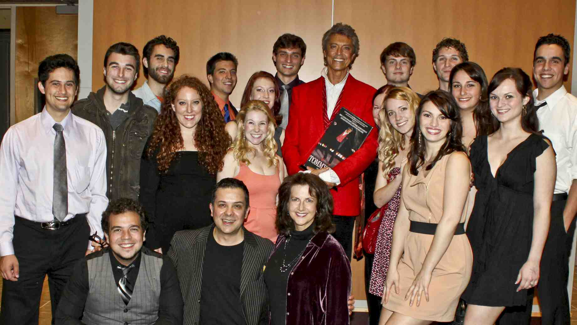 Tommy Tune with Musical Theatre students at the award ceremony.