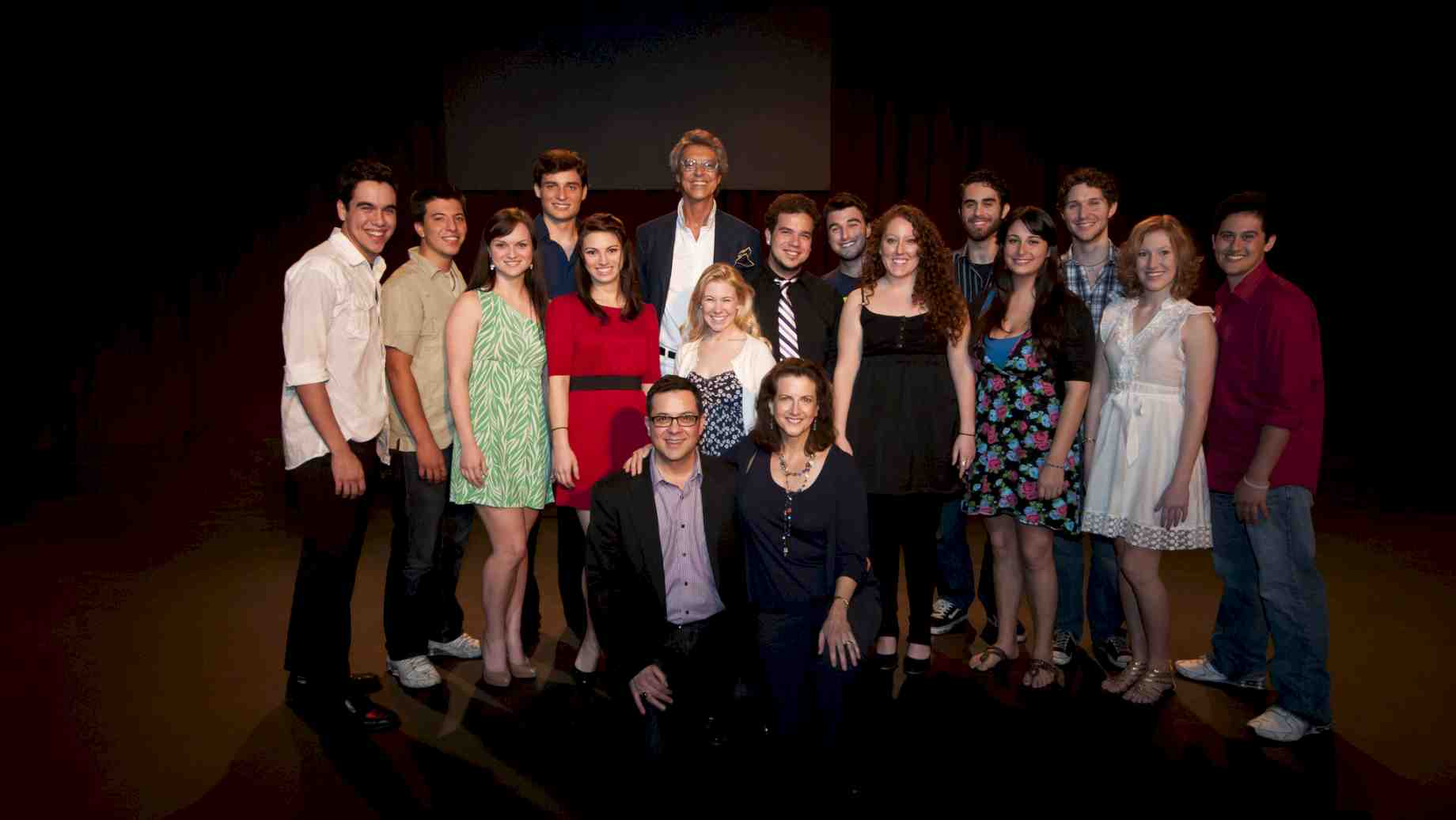 Tommy Tune with Musical Theatre students.