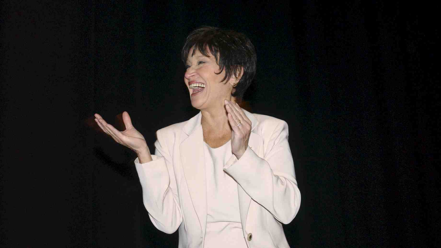Chita Rivera talks to students during the Master Class