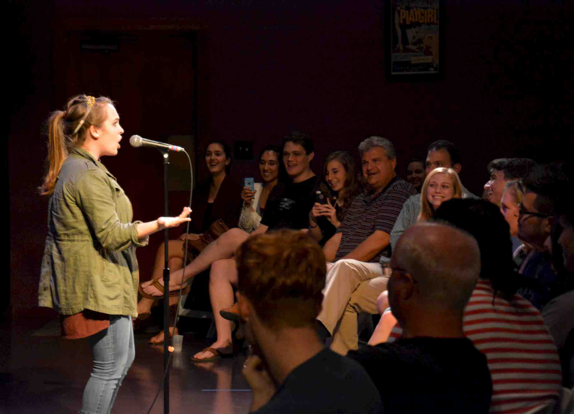 Simple Exhibition Stand Up Comedy : Students in new comedy class shine stand up show
