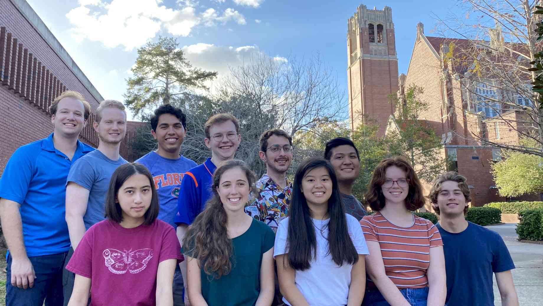 Members of the Spring 2020 UF Carillon Studio