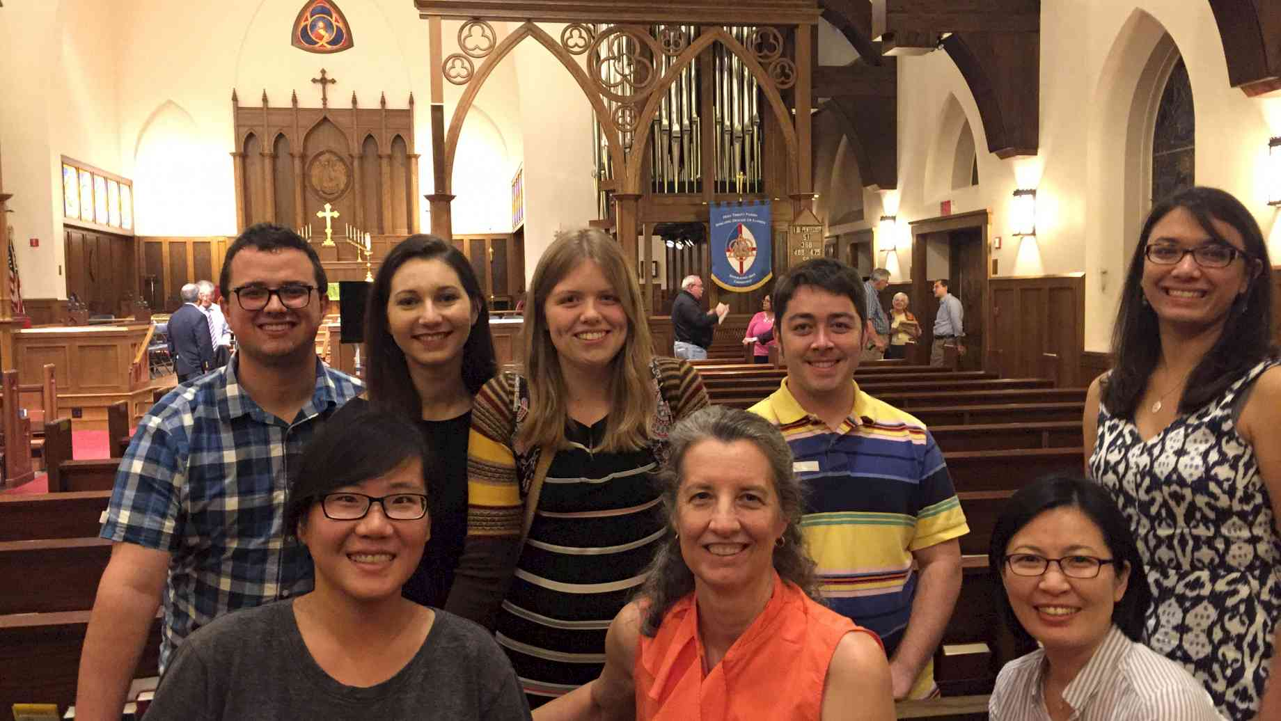 Current and former UF studio members attend a recital at Holy Trinity, 9-23-16